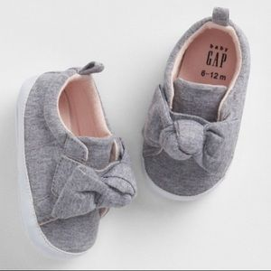 Gray Bow Sneakers